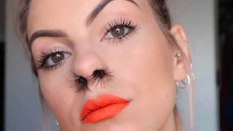 bizarre beauty trend nose hair extensions