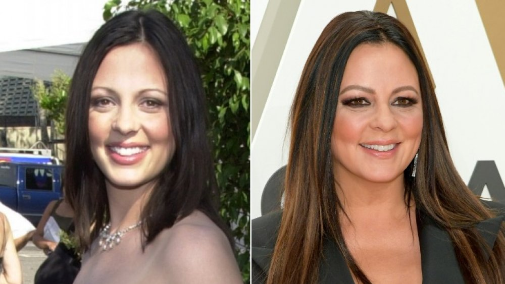 star country Sara Evans then and now