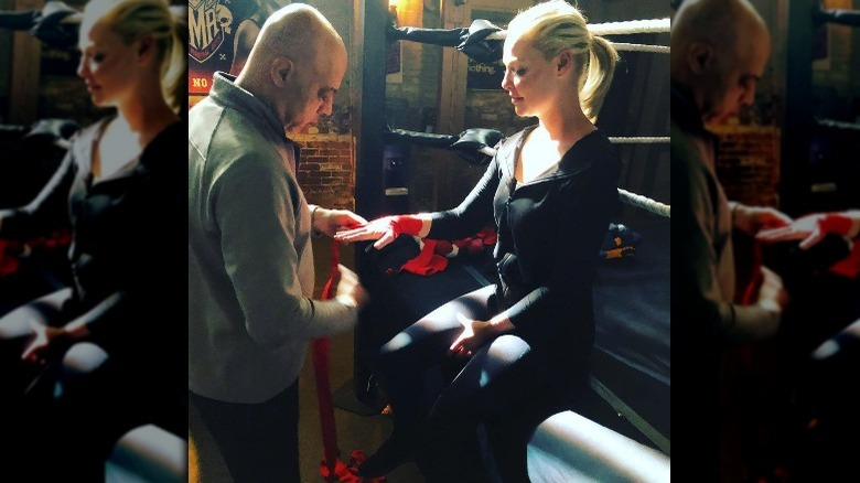 Katherine Heigl getting ready to box on Suits