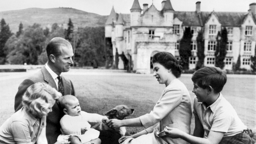 Queen Elizabeth and her family at Balmoral Castle