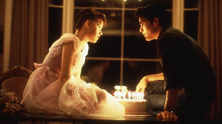 Kiss scene from Sixteen Candles