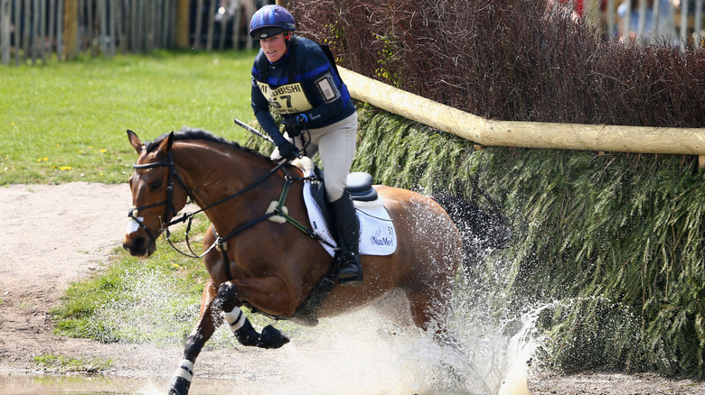 Zara Tindall riding a horse
