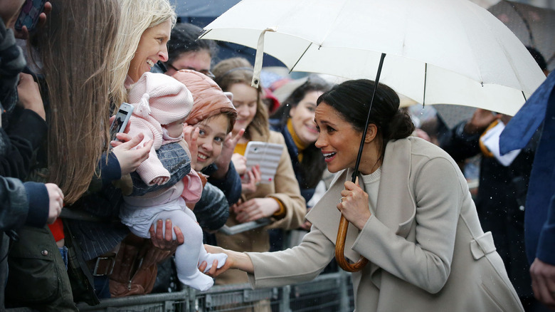 Meghan Markle with baby