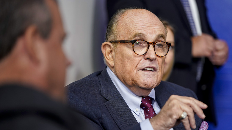 Rudy Giuliani Accidentally Shares Video of Himself Being Racist Toward Asians