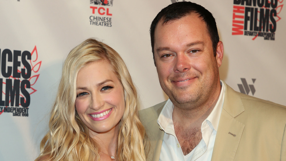 Beth Behrs and her husband Michael Gladis