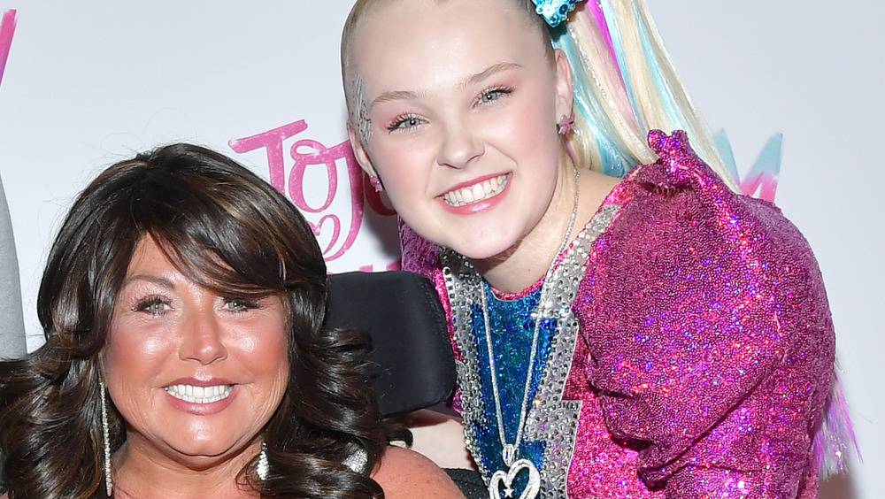 Abby Lee Miller and JoJo Siwa smiling together