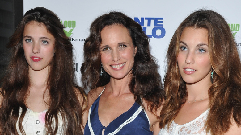 Andie MacDowell and daughters Rainey and Margaret Qualley