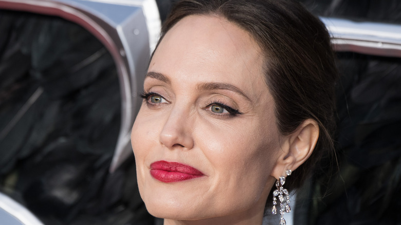 Angelina Jolie in red lipstick