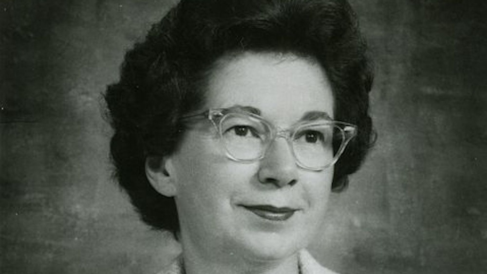Beverly Cleary, black-and-white photo