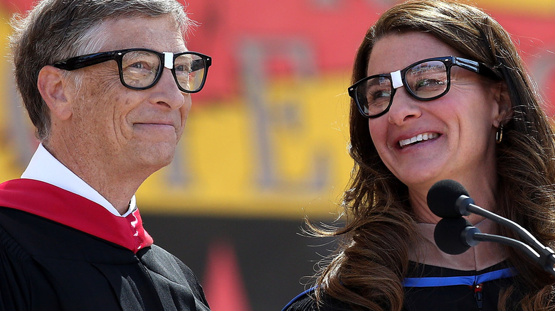 Bill and Melinda Gates onstage