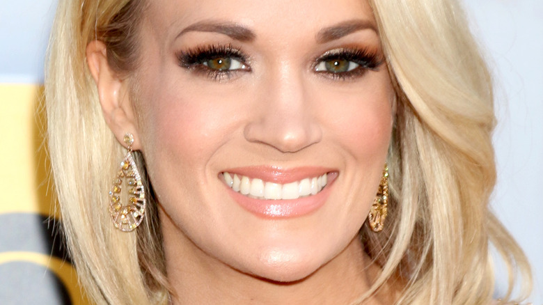 Carrie Underwood smiling red carpet