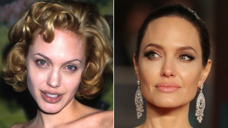 Angelina Jolie before and after eyebrows