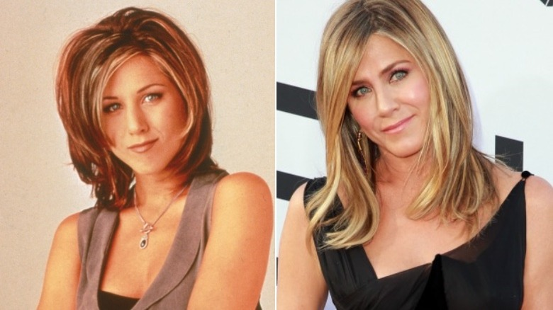 Jennifer Aniston before and after eyebrows