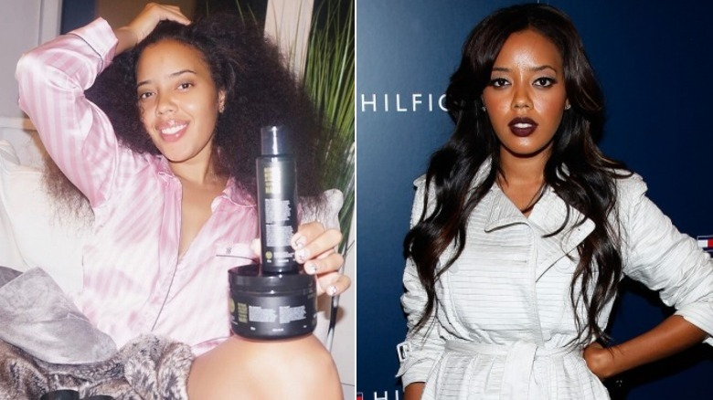 Angela Simmons before and after natural hair