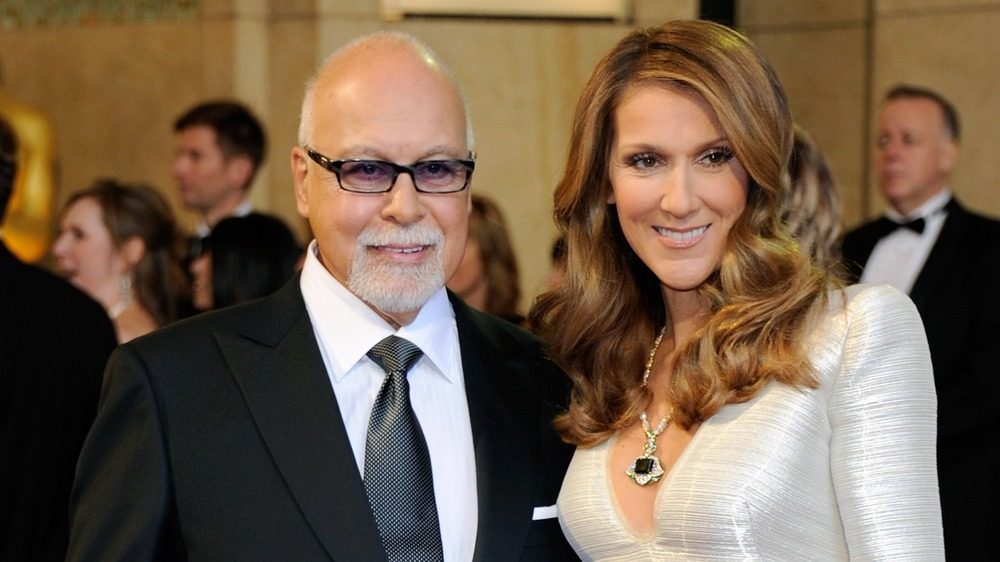 Celine Dion with husband René