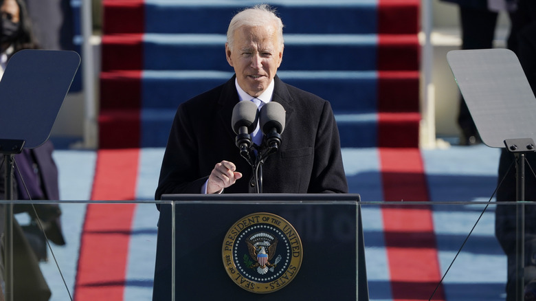 President Joe Biden on Inauguration Day