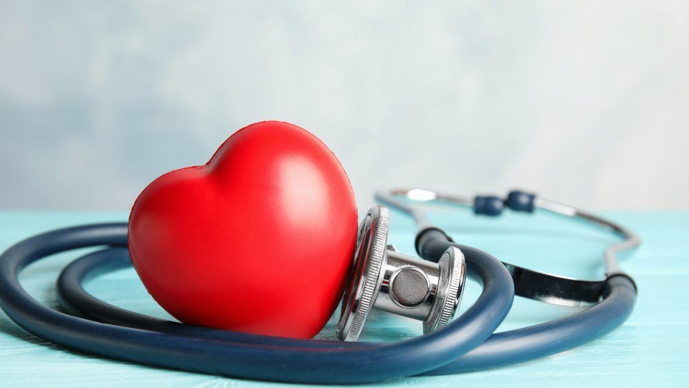 A stethoscope and heart