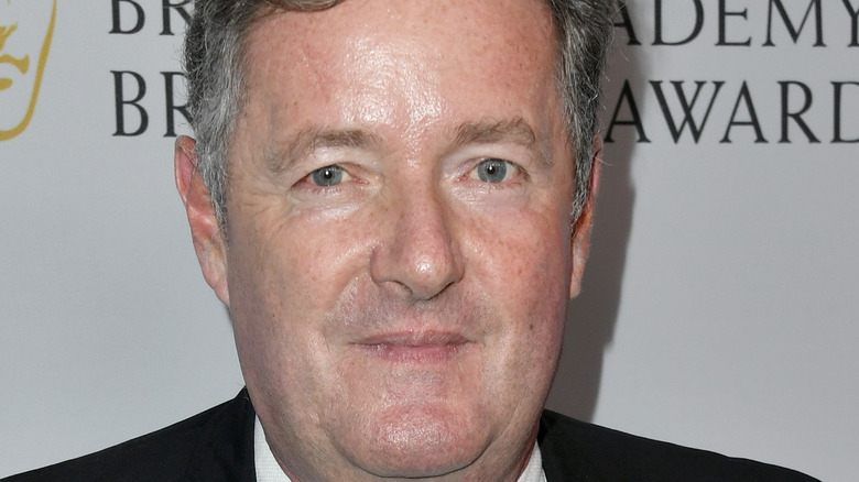 Piers Morgan straight faced