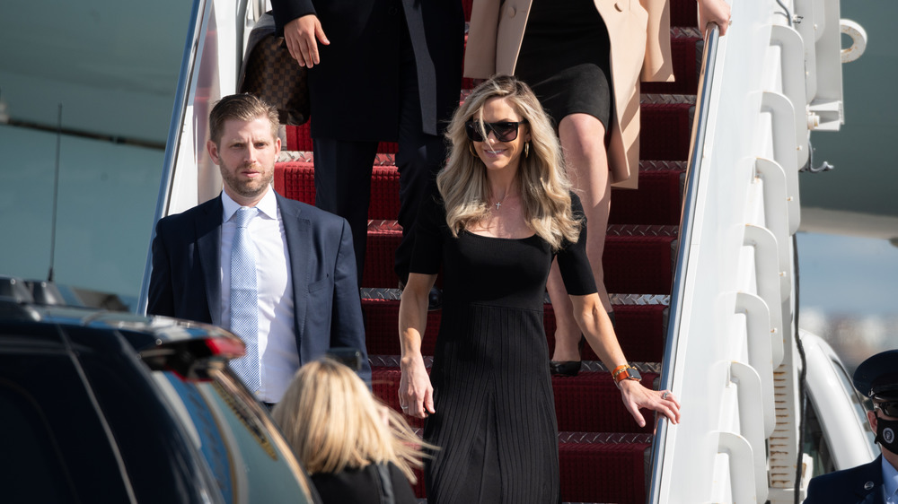 Eric and Lara Trump arrive Florida on Air Force One