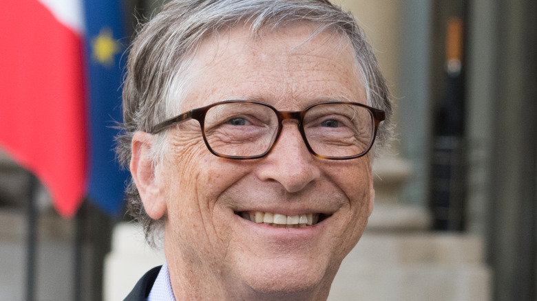 Bill Gates wearing a suit