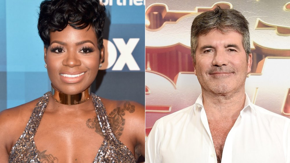 Fantasia Barrino and Simon Cowell