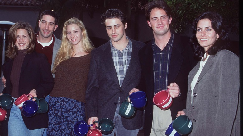 The cast of Friends in 1995