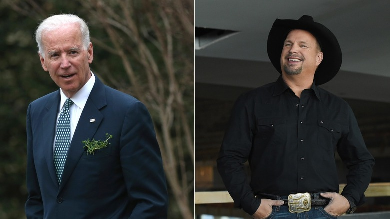 Joe Biden and Garth Brooks