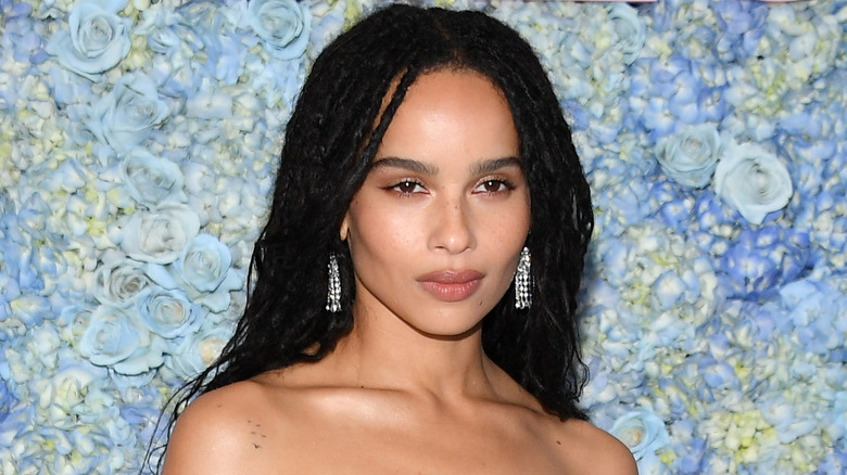 Zoe Kravitz, showing off the 2020 haircut trend of braids