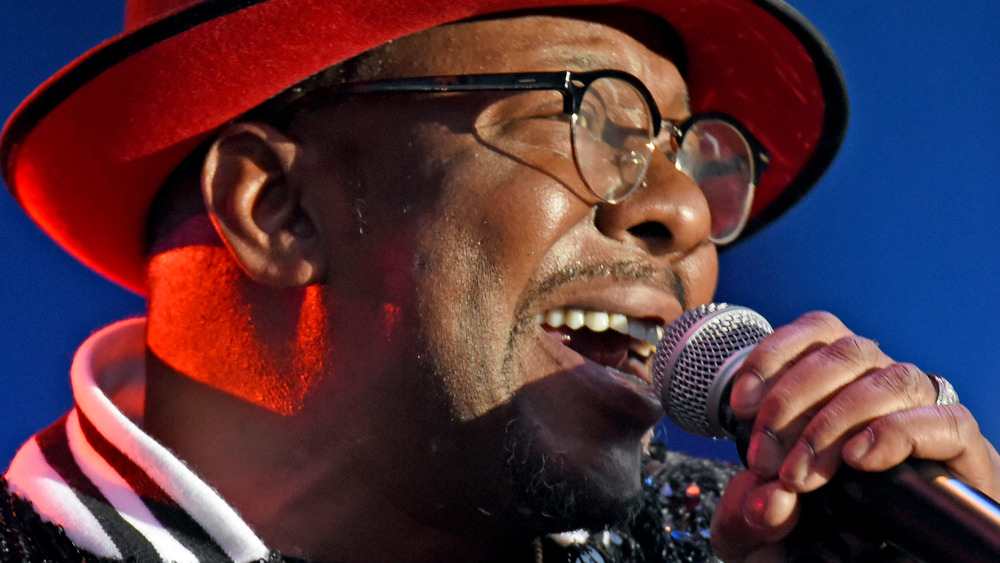Bobby Brown singing on stage