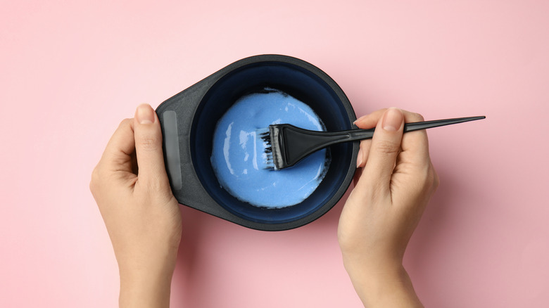 bowl of hair dye