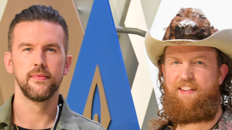 Brothers Osborne T.J. and John pose for the camera at the 2020 Country Music Awards