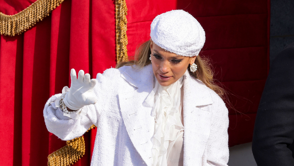Jennifer Lopez at the inauguration
