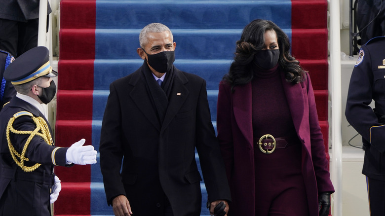 Barack and Michelle Obama at the Inauguration