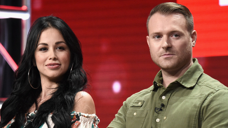 Paola Mayfield and Russ Mayfield of '90 Day Fiancé: Happily Ever After?' speak onstage