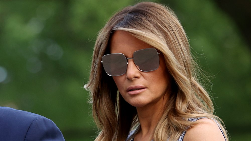 Melania Trump wearing sunglasses