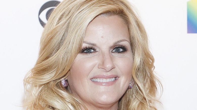 Trisha Yearwood wears a gown