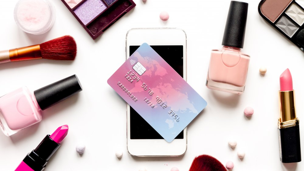 Makeup, cell phone, and credit card