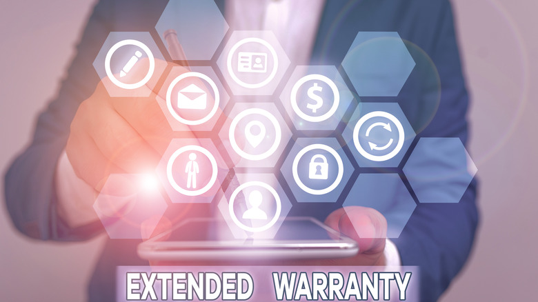 Icons representing extended warranty