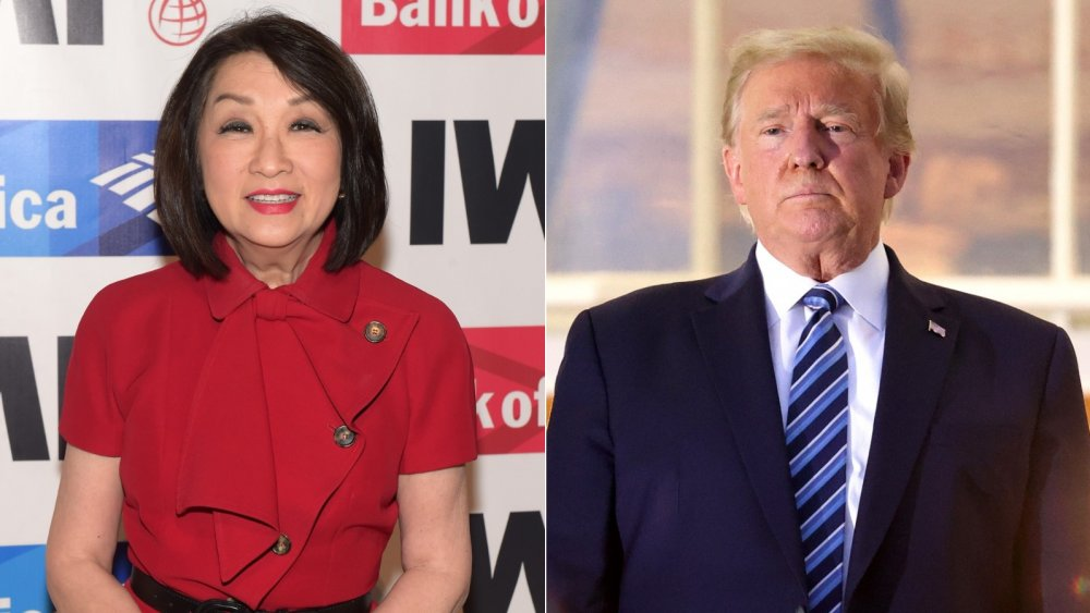Connie Chung and President Donald Trump