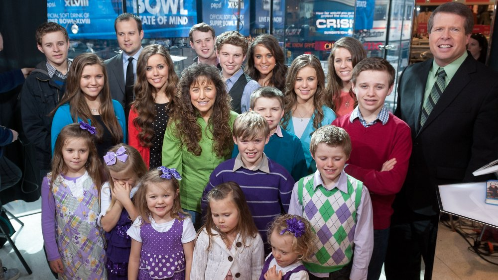 The Duggar family from 19 Kids and Counting in 2014