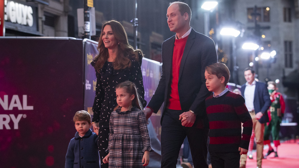Prince William, Kate, and children
