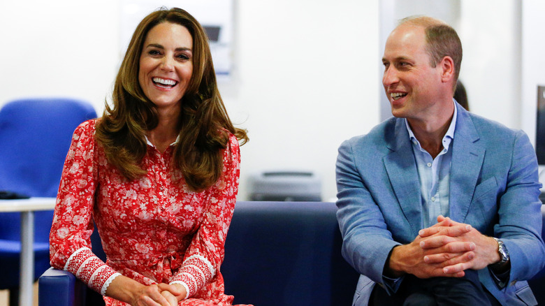 Kate Middleton and Prince William at an employment event in 2020