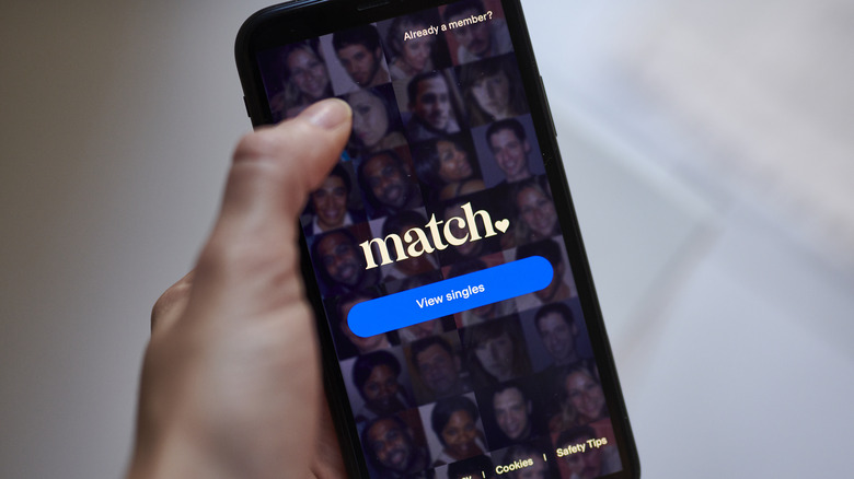 The Match app on phone