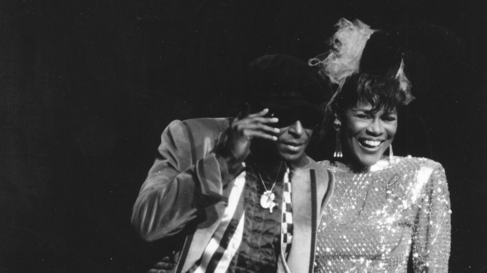 Miles Davis with Cicely Tyson in 1983