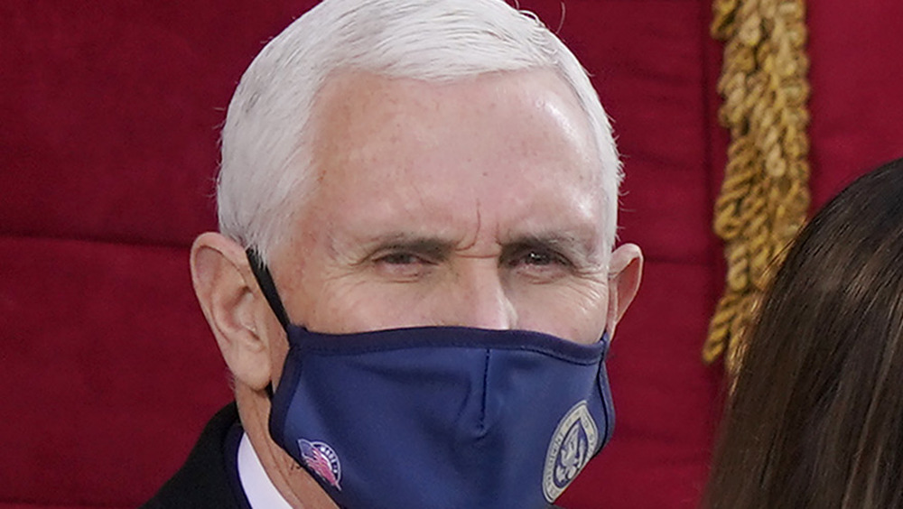 A masked Mike Pence at the Biden/Harris Inauguration