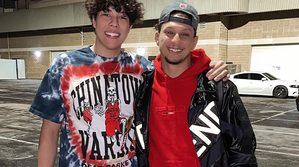 Jackson Mahomes with brother Patrick