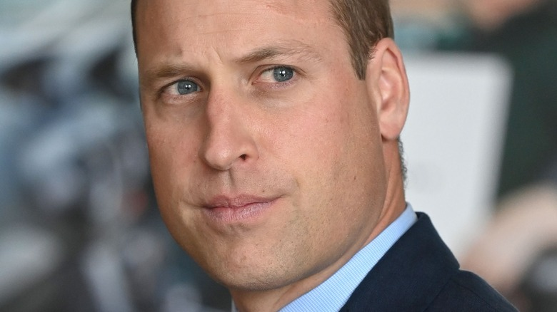 Prince William looking serious
