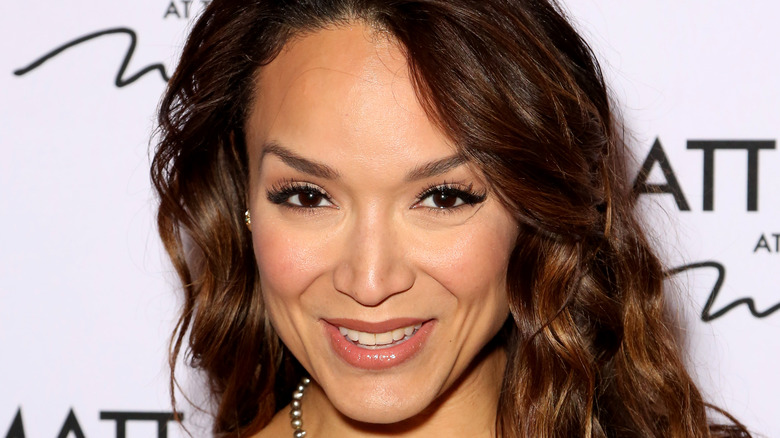 Mayte Garcia Prince posing at event