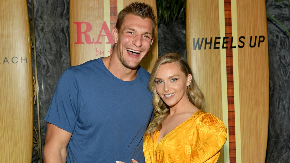 Tampa Bay Buccaneers tight end Rob Gronkowski and girlfriend Camille Kostek