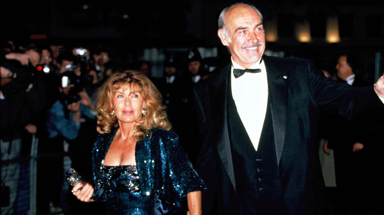 Sean Connery and his wife